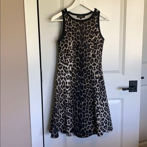 Women's leopard dress, fit and flare.  Size Small.